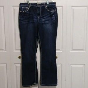 Earl Jean Slim Bootcut Embellished Jeans